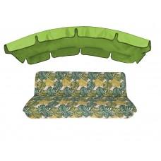 Комплект для гойдалки eGarden Fauna 180 салатний тент