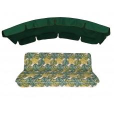 Комплект для гойдалки eGarden Fauna 180 темно-зелений тент