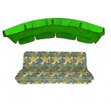 Комплект для гойдалки eGarden Fauna 180 тент трава (яскраво-зелений)