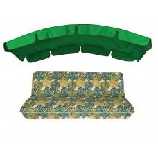 Комплект для гойдалки eGarden Fauna 180 зелений тент