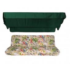 Комплект для качелей eGarden Loros Rojo 170 темно-зеленый тент