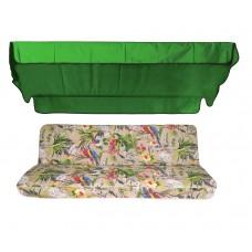 Комплект для качелей eGarden Loros Rojo 170 зеленый тент