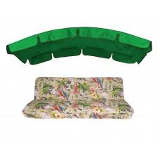 Комплект для качелей eGarden Loros Rojo 180 зелений тент