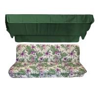 Комплект для качелей eGarden Palmeras зеленый тент
