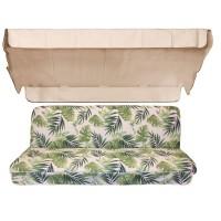 Комплект для качелей eGarden Tropical бежевый тент