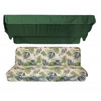 Комплект для качелей eGarden Tropical зеленый тент