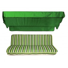 Комплект для качелей eGarden Verrano зеленый тент