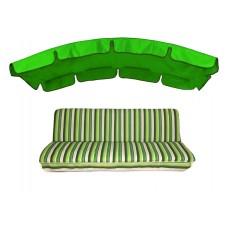 Комплект для качелей eGarden Verrano 180 тент трава (ярко-зеленый)