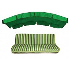 Комплект для качелей eGarden Verrano 180 зеленый тент