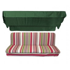 Комплект для качелей eGarden Yarma зеленый тент