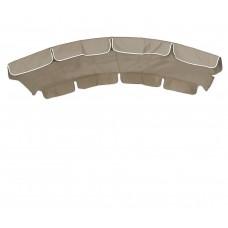 Тент для качелей с округлой крышей eGarden бежевый