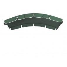 Тент (дах) LUX для гойдалки з округлим дахом eGarden 120x210 зелений