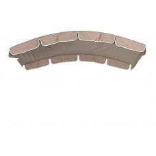 Тент (дах) LUX для гойдалки з округлим дахом eGarden 120x210 кавовий